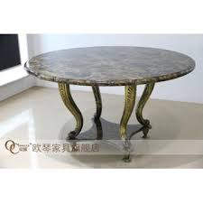 round marble dining table antique brass