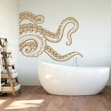 Octopus Tentacle Wall Decal Kraken Wall Decal Octopus Vinyl Etsy