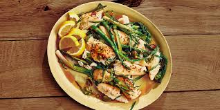 Butter-Roasted Halibut with Asparagus ...