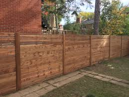Ndg Brown Pressure Treated Horizontal Fence With Trims On Post And Custom Smaller Slats Horizontal Fence Fence Landscaping Fence