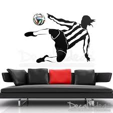 Soccer Player Ball Wall Decal Football Wall Decal Fifa Decal World Cup Ball Decal Children S Room Football Room Decal Sticker In 2020 Football Wall Kids Wall Decals Boys Wall Decals