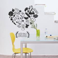 Creative Kitchen Vinyl Wall Decal Kitchen Lifestyle Fitness Vegetables Cafe Food Dining Room Mural Wall Sticker Home Decoration Stickers Home Decor Wall Stickers Home Decorhome Decor Aliexpress