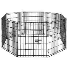 I Pet 30 8 Panel Pet Dog Playpen Puppy Exercise Cage Enclosure Play Pen Fence Dog Supplies