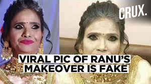 ranu mondal s viral make up photo is