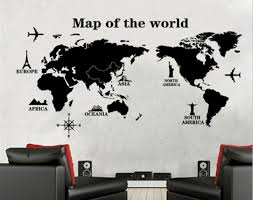 World Map Wall Decal Sticker Home Import World