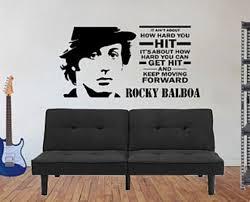 Rocky Balboa Decal Rocky Balboa Wall Decal Movie Quote Etsy