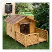 Dog House With A Decking Front Porch Dog House Heater Dog House Diy Build A Dog House