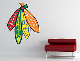 Chicago Blackhawks Logo Nhl Wall Decal Hockey Vinyl Sticker Decor Extra Large Ebay
