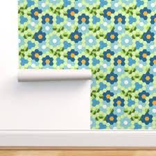jwq hexagon grid edc blue spoonflower