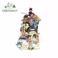 Earlfamily 13cm X 8cm Decals For Poster Studio Ghibli Classic Comic Japan Anime Comic Series Personality Vinyl Car Sticke Car Stickers Aliexpress