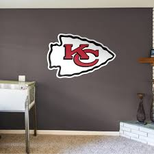 Fathead Kansas City Chiefs Logo Giant Officially Licensed Nfl Removable Wall Decal Walmart Com Walmart Com