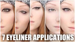 7 diffe eyeliners makeup tutorial