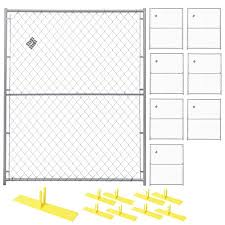 Crowd Control Temporary Fence Panel Kit Perimeter Patrol Portable Security Fence Safety Barrier For Protecting Property