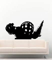 Gamer Vinyl Wall Decals Bioshock Big Daddy Drill Video Game Play Vinyl Decor Stickers Mk5263 Amazon Ca Home Kitchen