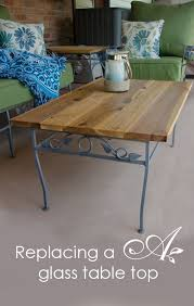 replacing a glass table top patio