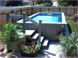 Backyard Above Ground Pool Ideas Impressive Pools Decks Idea Swimming Home Elements And Style With Stone Intex Fencing Back Yard Large Small Crismatec Com