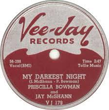78 RPM - Priscilla Bowman And Jay McShann - I've Got News For You / My  Darkest Night - Vee-Jay - USA - VJ 179