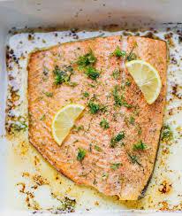 Garlic Dill Lemon Baked Salmon Recipe ...