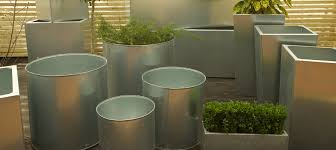 galvanised planters made in the uk