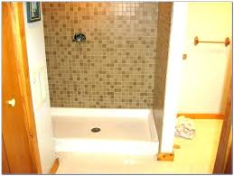 replacing shower stall with tile remove