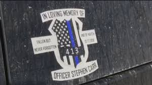 Fayetteville Police Cruiser Window Decals Honor Fallen Officer