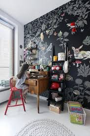 Boho Kid S Room Enchanted Forrest Wallpaper And Vintage Furniture Creative Kids Rooms Baby Room Decor Childrens Bedroom Inspiration