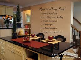 Kitchen Wall Decal Recipe For A Happy Family Kitchen Wall Etsy