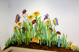 Thinking About The Nursery Garden Mural Murals Pinterest Garden Mural Flower Mural Mural