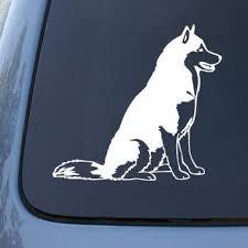 Amazon Com Graph And More Siberian Husky Dog Vinyl Car Decal Sticker 1560 Vinyl Color White Automotive