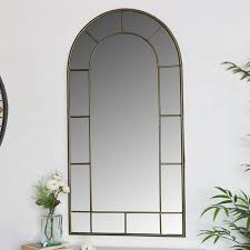 large arched metal window mirror 55cm x