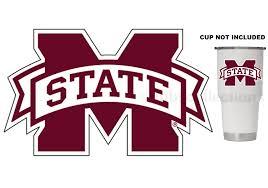 Mississippi State Bulldogs 4 Premium Vinyl Decal Sticker For Tumbler Cup Car Ebay