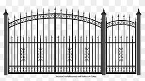 Black Metal Fence Gate Wrought Iron Fence Door Gate Outdoor Structure Monochrome Home Fencing Png Pngwing