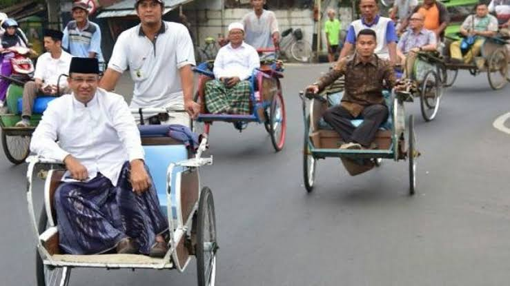 """Image result for anies becak"""""""