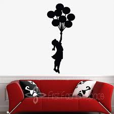 Banksy Floating Balloons Vinyl Wall Decal Wall Mural Wall Art Stickers Home Decor Free Shipping Large Size 35 X100cm Stickers Home Decor Home Decorvinyl Wall Decals Aliexpress