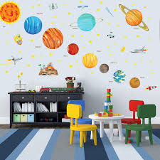Solar System Wall Decals Removable Stickers Uk Australia Design Vinyl India Etsy Vamosrayos