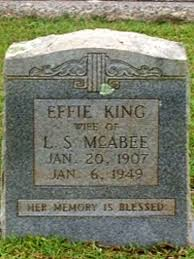 Effie Boger King McAbee (1907-1949) - Find A Grave Memorial