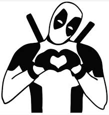 Yourchoicedecals Deadpool Making Heart Sign On Car Truck Suv Laptop Mac Toolbox Wall Window Decal Sticker 6 Inches White With White Heart Wish