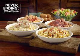 never ending pasta bowl specials