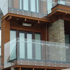glass balcony railing design