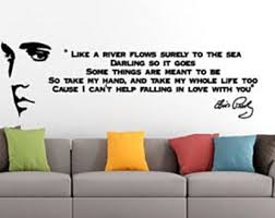 Elvis Wall Decal Etsy