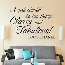A Girl Should Be Two Things Classy And Fabulous Vinyl Wall Decal Quote Ebay