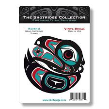 Raven 2 Vinyl Decal Native Formline Stickers Shotridge Decals The Shotridge Collection