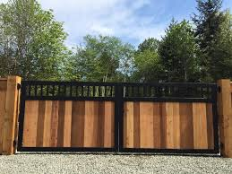 10 Unique Fence Ideas And Designs In 2020 Metal Fence Gates Fence Design Wood Gates Driveway