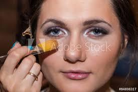 make up makeup artist at work