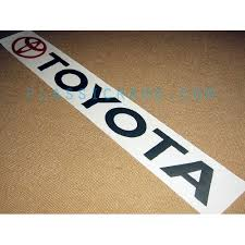Toyota Windshield Decal Style 1