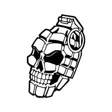 Skull Hand Weapon Military Car Truck Window Wall Vinyl Decal Sticker Vinyl Decals Stickers Decal Stickervinyl Decal Aliexpress