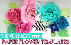 best free paper flower templates the