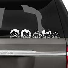 Peeping Peekaboo Family Car Stickers The Decal Guru