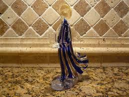 murano art glass angel candle holder