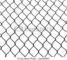Chainlink Fence Seamless White Background Vector Available